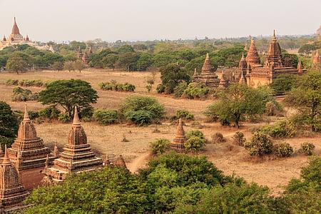 Burma, Myanmar, resor, Asia, turism, landskap, antika