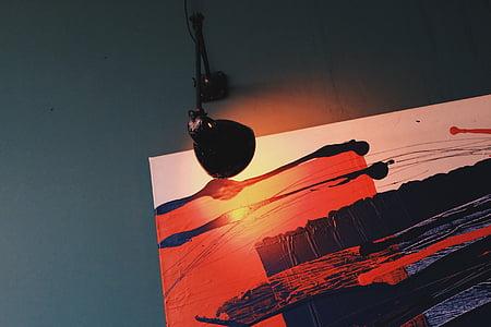 ภาพวาด, รูปภาพ, โคมไฟ, เรืองแสง, ศิลปะ, การออกแบบ, การวาดภาพ