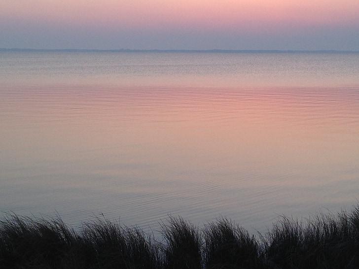 Alba, platja, paisatge, marí