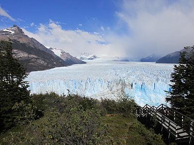 glaciär, frusna floden, Ice, kalla, glass, Argentina, södra argentina