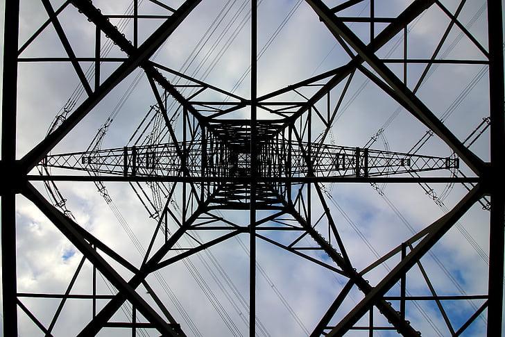praeguse, strommast, liini, elektrienergia, võimu poolakad, kõrgepinge, torn
