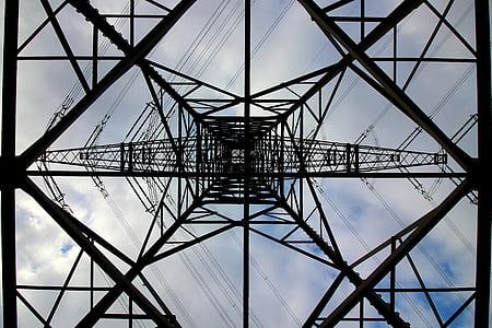 current, strommast, power line, electricity, power poles, high voltage, pylon