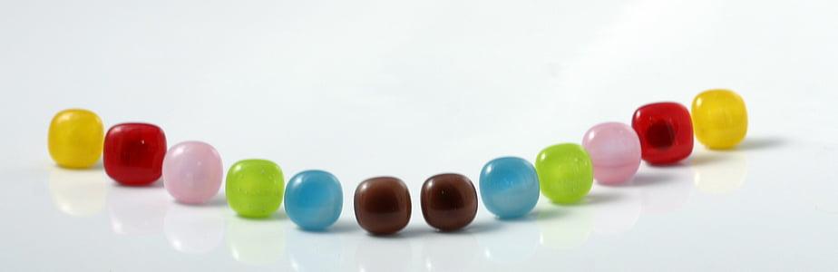 colors, vidre, joieria, joieria, perles, Artesania, vidre fos
