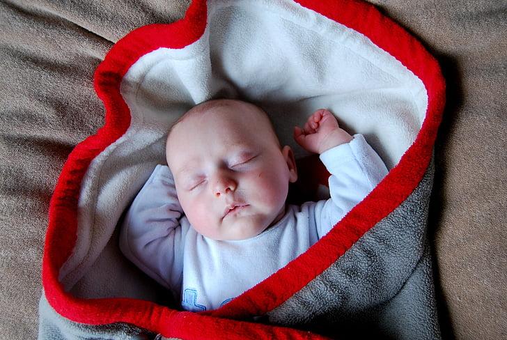 bayi, selimut, tidur, anak, orang-orang, bayi baru lahir, Manis