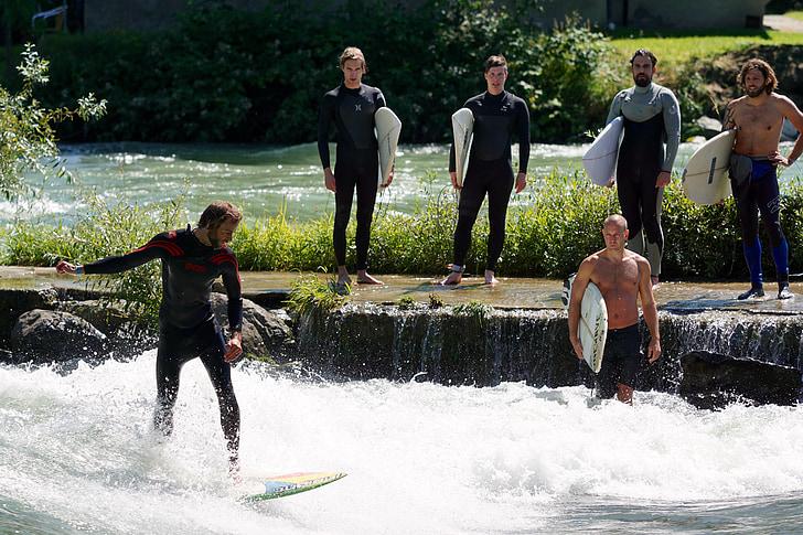 surf, esports aquàtics, onades de surf, navegar per, riu surf, estand