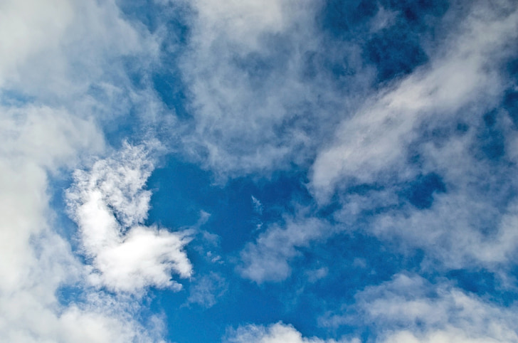 sky, blue, cloud, cloudy, background, weather, sunny