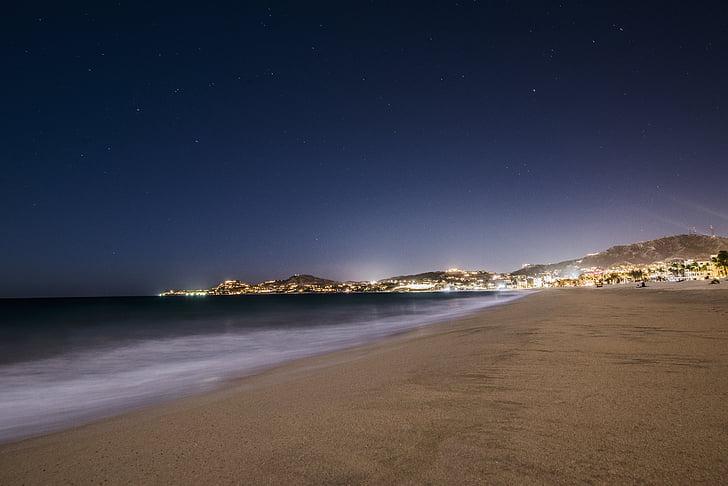 platja, nit, Mar, natura, Costa, cel