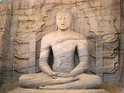 meditació, meditar, Buda, xamanisme, religió, Sri lanka, figura