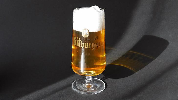 glass, øl, skum
