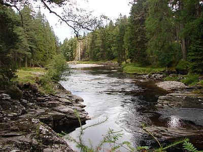 dee, scotland, river, landscape, braemar