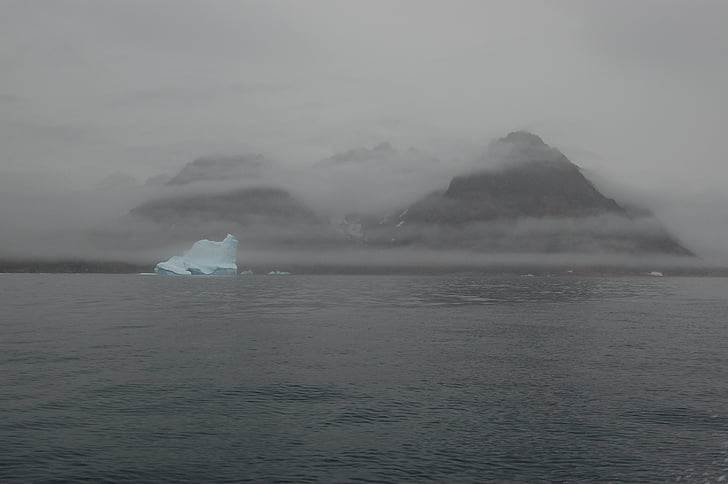 mist, tsunami, Bergen, wolken, Groenland, water, natuur