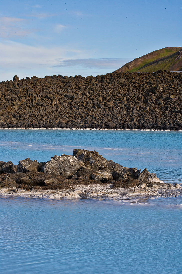 blau, llacuna, Islàndia, Roca, volcànica, pedra, l'aigua