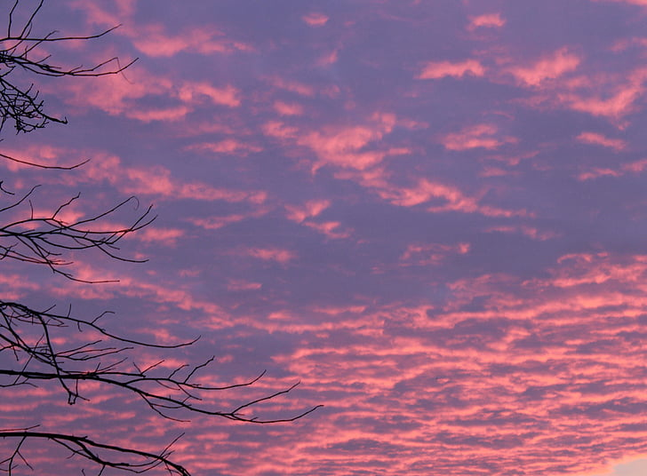 salida del sol, morgenrot, cielos, color rojo brillante