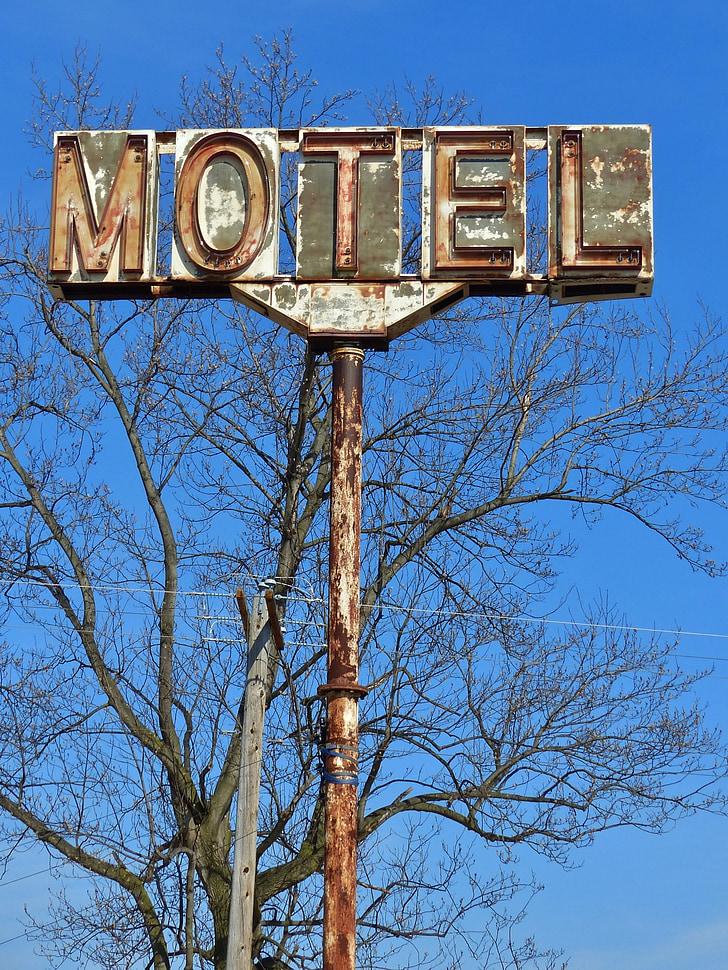 Motel, Hotel, son, Pennsilvània, carretera, viatge, viatges