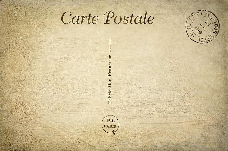 bưu thiếp, đồ cổ, Vintage, giấy, thẻ, con dấu, Hoài niệm