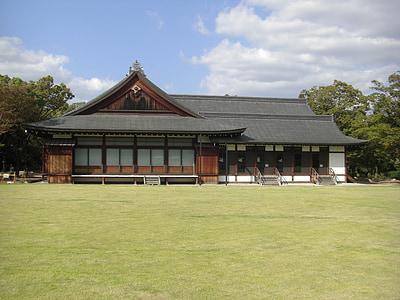 osaka castle, nishinomaru garden, osaka geihinkan, osaka, japan