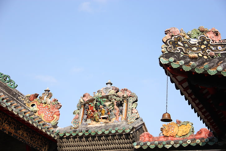 ancient architecture, temple, building, art, culture, china wind, chinese style
