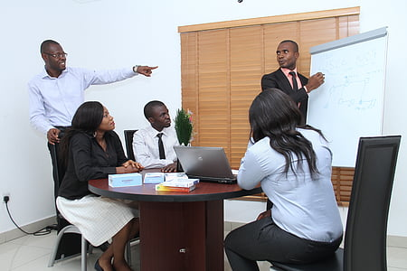 kolēģiem, seminārs, prezentācija, uzņēmējdarbības, biroja, lekcija, piezīmju grāmatiņas