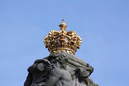 denmark, royal house, crown, king, golden, danish, summer