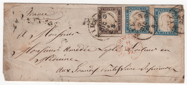 stamps, letter, rarity, colors, ephemera, old, old-fashioned