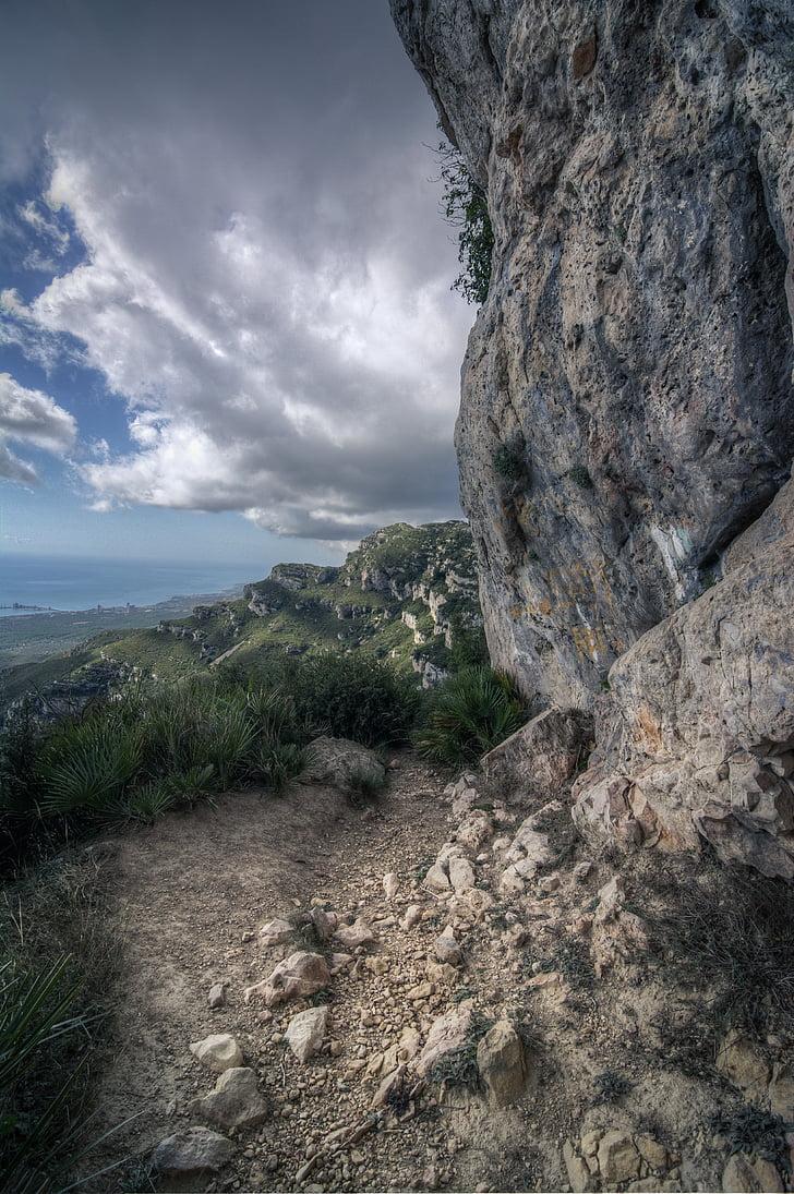 taust, mägi, dramaatiline, rada kivid, maastiku taustal, pilve taustal, loodus, maastik