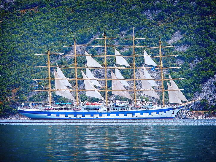 sailing ship, sea, sail, sailing, boat, ship