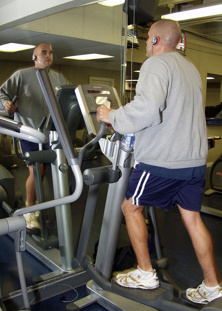 trenažieru zāles telpā, fitnesa, sirds un asinsvadu vingrinājums, Elliptical bike, Cardio mācības, fiziskais stāvoklis, sadedzināt kalorijas
