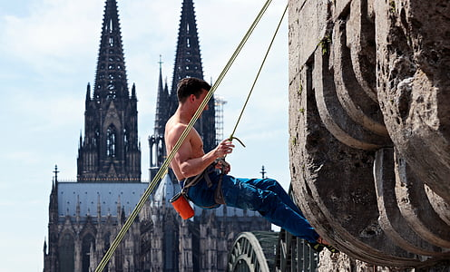 climbing, climb, sport, climber, leisure, backup, feeling