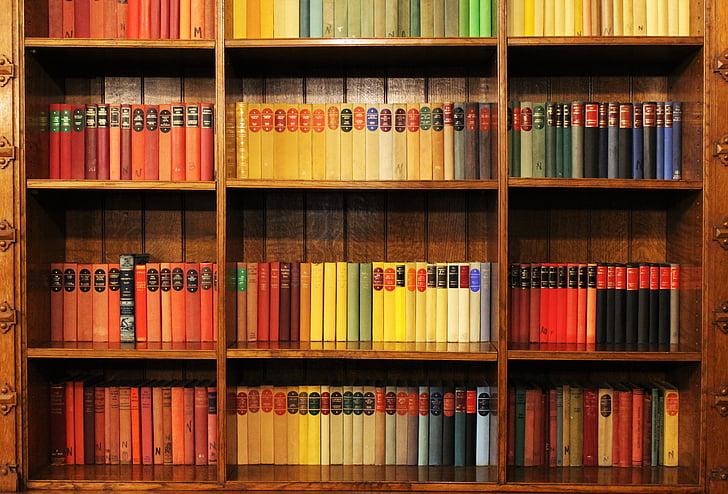 boeken, boekenplank, bibliotheek, literatuur, plank, boekenkast