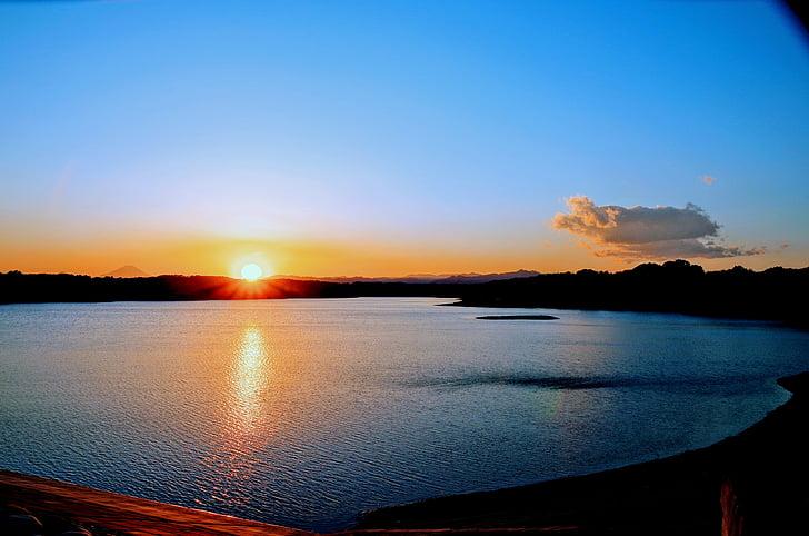 sunset, sky, japan, cloud, at dusk, sun, water