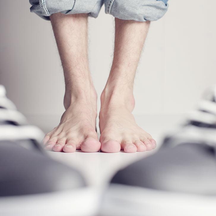 noge, bos, stopala, deset, cipele, čudno, Sažetak