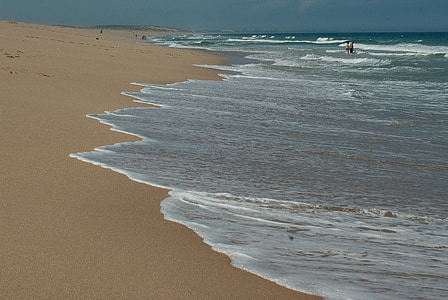 atlantic ocean, beach, tide, waves, scum