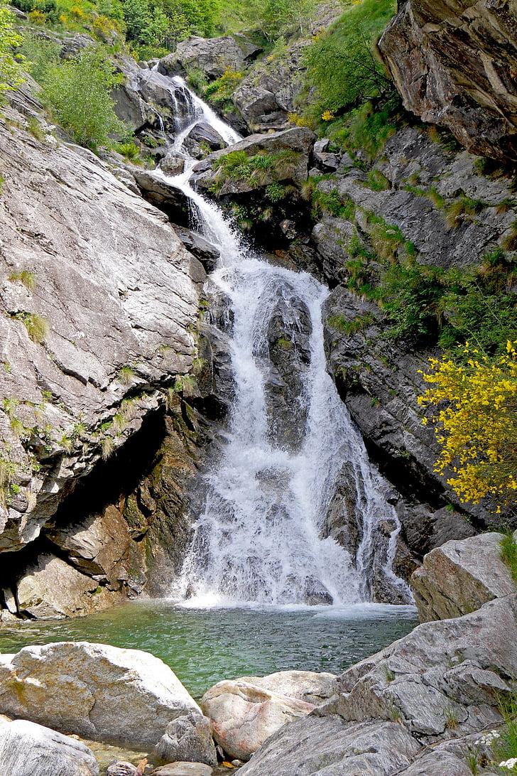 Cachoeira, natureza, paisagem, fluxo, água, Rio, Rock - objeto
