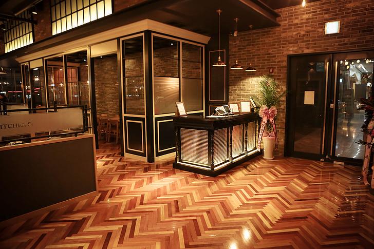 Nhà hàng, buffet, trong nhà, sang trọng, kiến trúc, hiện đại, trong nhà
