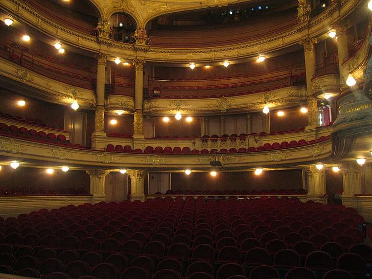 teater, spill, Vis, publikum, skuespillere, scenen, ytelse