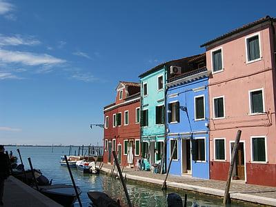 burano, เวนิส, สถาปัตยกรรม, สี