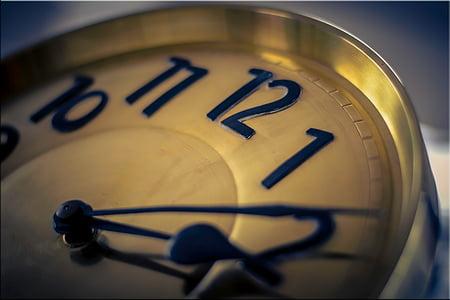 pulkstenis, laiks, laiks, kas norāda, rādītājs, misiņš, vecais, pulksteni seju