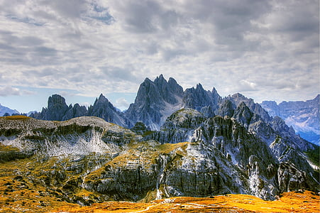 cadini, dolomites, mountains, italy, alpine, south tyrol, unesco world heritage