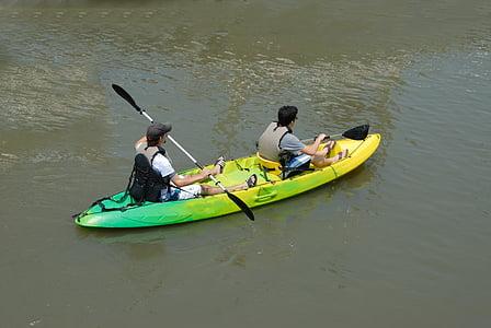 kayak, kayaking, people, water, sport, summer, nature