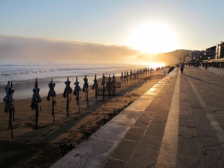 Alba, platja, Espanya, morgenstimmung, paisatge, Mar, sol