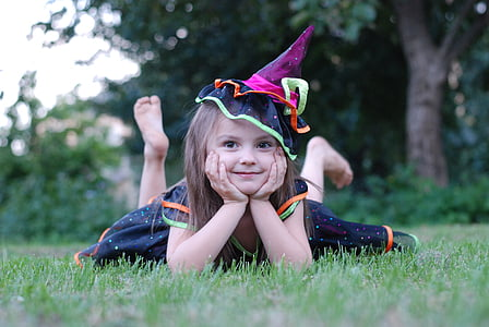 kids, girl, witch, the little girl, baby photo, photographing children, summer