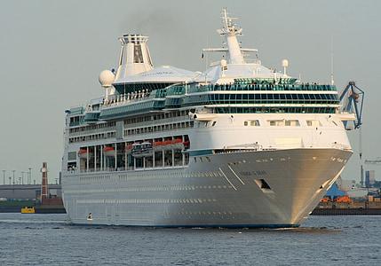 vas de croaziera, croaziera, nava, amurg, trafic, maritim, mare