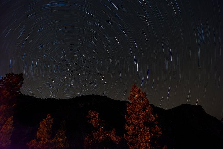 noite de estrelas, céu noturno, céu estrelado, céu, Astronomia, estrelas, noite estrelada