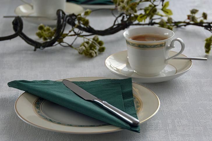 Copa, cafè, coberta, tassa de cafè, esmorzar, descans, beneficiar-se de