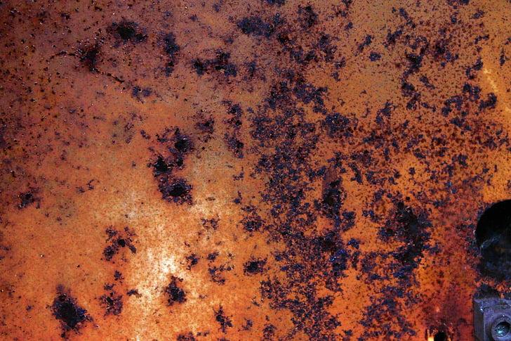 inoxidable, textura, metall, Rusted, rovellat, ferro, fons