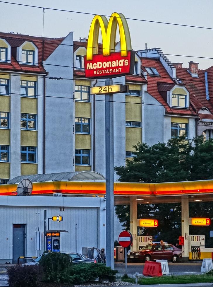 McDonald ' s, Bydgoszcz, ristorante, segno, Polonia, Fast food, urbano