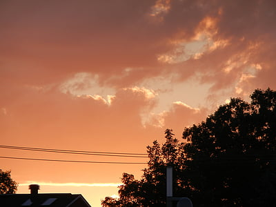 sončni zahod, sončni vzhod, oblak, nebo, na prostem, scensko, mirno