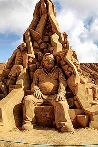 sand sculpture, sand, sculpture, artwork, sand picture, sandworld, statue