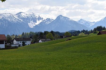 Németország, Füssen, hegyi, táj, Grand
