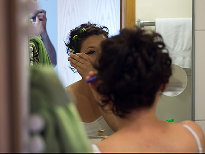 составляют, Косметика, макияж, кисть, применение, тушь для ресниц, зеркало